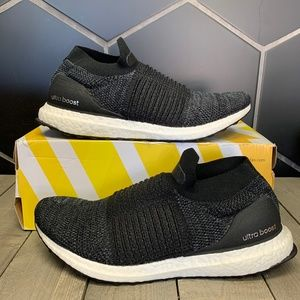 Womens Adidas Ultraboost Laceless Black Shoes 9.5